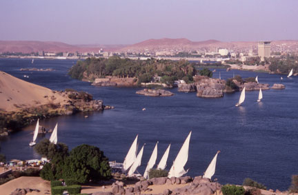 Nile Falukas on the River