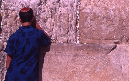Jerusalem Wester Wall - Man Praying