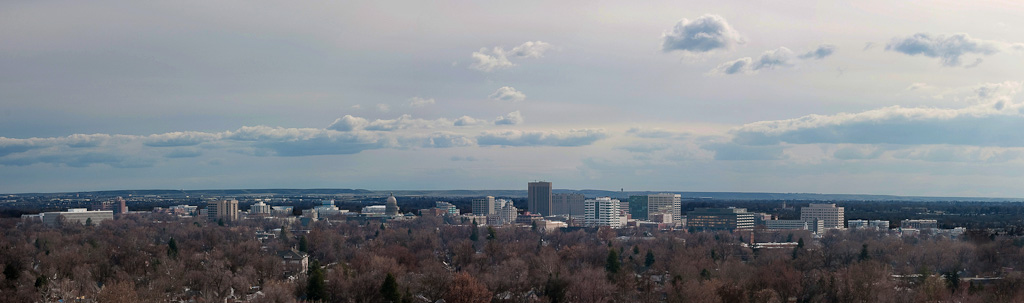 Boise Skyline from Saddleback - Pano